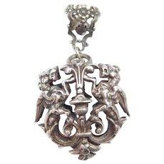 Art Nouveau Chimera Silver Pendant / Griffin / Dragon