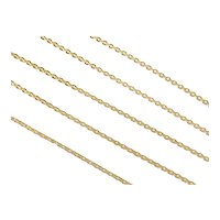 Long Cable Link Chain 18k Gold