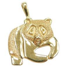 Panda Bear Charm / Pendant 14k Gold