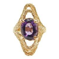 Vintage Amethyst 3.09 Carat Ring 14k Gold