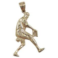 Vintage 14k Gold Baseball Player Charm