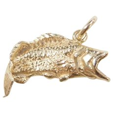 b00e12e72 Vintage 14k Gold Bass Fish Charm. Arnold Jewelers