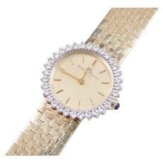 Baume & Mercier Ladies Watch 14k Gold with Diamond Bezel