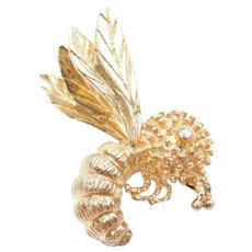 14k Gold Bee Pin / Brooch