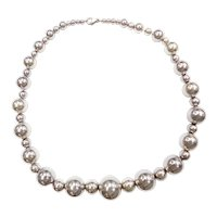 """18 1/2"""" Sterling Silver Big Bead Necklace"""