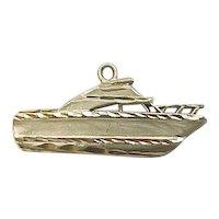 Vintage 14k Gold Boat Charm