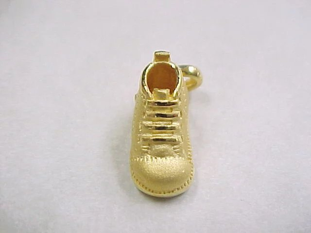 Vintage 24k Pure Gold Baby Bootie Shoe Boot Charm