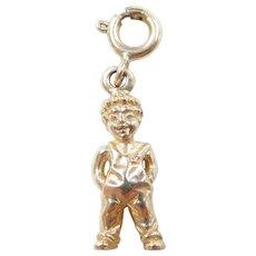 Vintage 14k Gold Boy in Overalls Charm