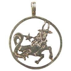 Vintage 14k Gold Capricorn Charm