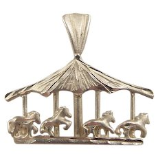 Vintage 14k Gold Carousel / Merry-go-round Charm
