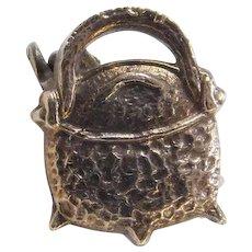 Vintage 10k Gold Cauldron Pot Pin / Brooch
