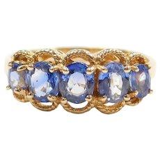 14k Gold 1.10 ctw Cornflower Blue Sapphire Ring