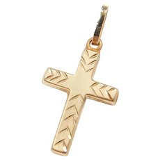 14k Gold Cross Charm
