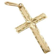 14k Gold Cross Charm / Pendant