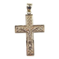 Vintage 10k Gold Crucifix Cross Pendant