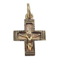 Vintage 14k Gold Crucifix Cross Charm / Pendant