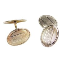 Art Deco 14k Gold Men's Cuff Links