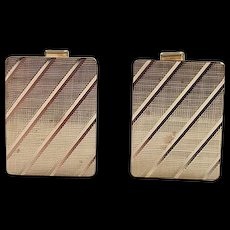 Vintage 14k Gold Cuff Links
