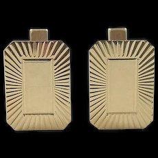 Vintage 14k Gold Men's Cuff Links
