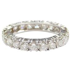 Diamond 2.20 ctw Eternity Band Ring 18k White Gold