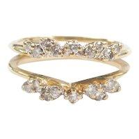 Diamond .45 ctw Solitaire Enhancer / Guard Ring 14k Gold