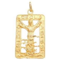 """Christ of the Abyss Pendant 18k Gold """"Cristo Degli Abissi"""""""