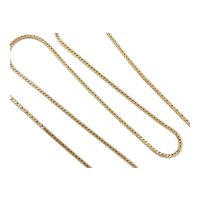 Square Wheat Link Chain 18k Gold
