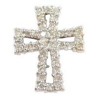 Diamond .54 ctw Cross Pendant 10k Gold Two-Tone