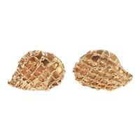 Bold Statement Stud Earrings 14k Gold