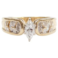 Marquise Diamond 1.25 ctw Engagement Ring 14k Gold