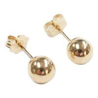5mm Ball Stud Earrings 14k Gold