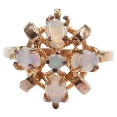 Vintage Opal Ring 10k Rose Gold