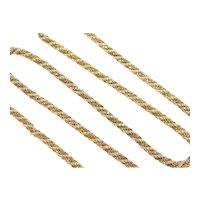 Solid Rope and Box Twisted Chain 18k Gold Two-Tone