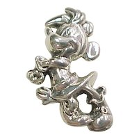 Sterling Silver Minnie Mouse Pendant ~ DLC Three Dimensional Official Licensed Disney