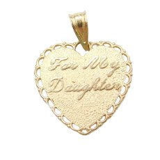 14k Gold To My Daughter, You Are My Pride and Joy Heart Charm