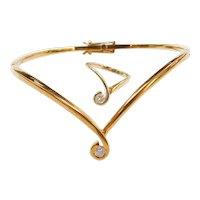 18k Gold .28 ctw Diamond Bracelet and Ring Set