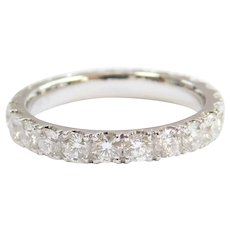 1.77 ctw Diamond Eternity Band Ring ~ Wedding / Stacking 14k White Gold