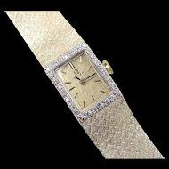 Vintage 14k Gold Diamond OMEGA Watch