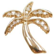 .15 ctw Diamond Palm Tree Charm / Pendant
