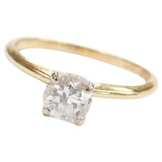 .70 Carat 14k Gold Solitaire Engagement Ring
