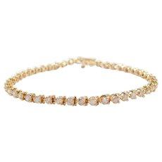 "7 1/4"" 4.60 ctw Diamond Tennis Line Bracelet"