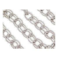 "18 1/2"" Sterling Silver Double Link Chain Necklace"