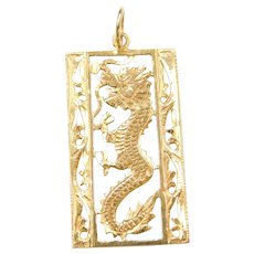 14k Gold Dragon Charm / Pendant