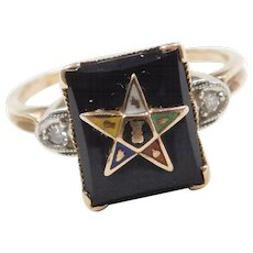 b679e89da4609 Ring Diamond Masonic Jewelry | Ruby Lane