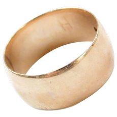 Edwardian 14k Rose Gold Wide Wedding Band Ring