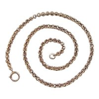 "Edwardian 14k Gold Link Chain ~ 14 1/2"" ~ 9.6 Grams"