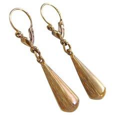 Edwardian 14k Gold Dangle Earrings