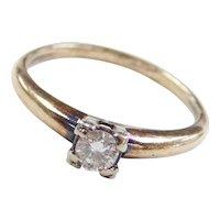 Edwardian 14k Gold .18 Carat Diamond Engagement Ring