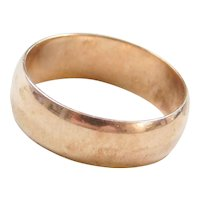 Edwardian 10k Gold Wedding Band Ring