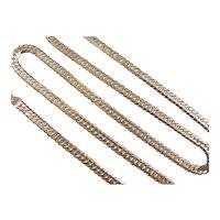 """European 9k Gold Curb Link Chain ~ 20"""""""